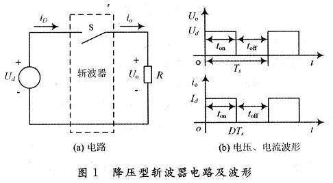 直流降压斩波电路原理图如图1(a)所示.
