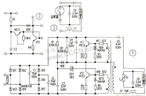 电子镇流节能灯应急修理两例