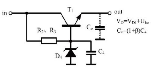 具有电容倍增式低通滤波器和串联稳压调整器双重作用