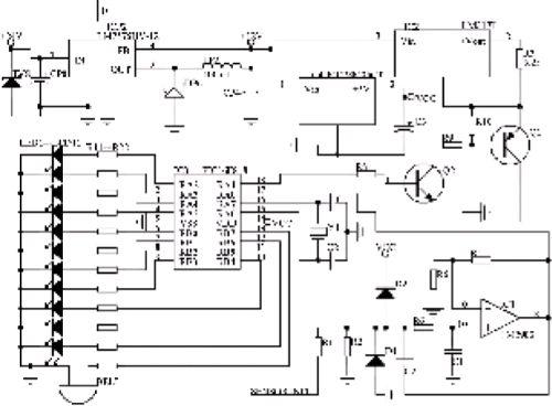 5通道10位ad转换电路满足液位显示