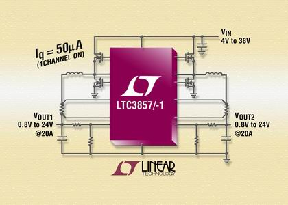 有一个电源良好信号以监视两路输出,还有一个 50mv 固定电流检测门限