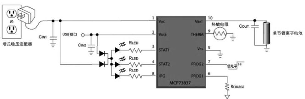 双输入锂离子电池充电器